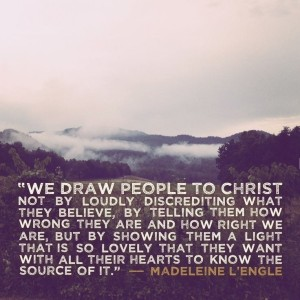 draw people to christ