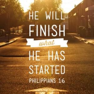 he will finish